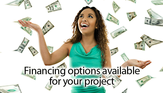 Financing options available for your project